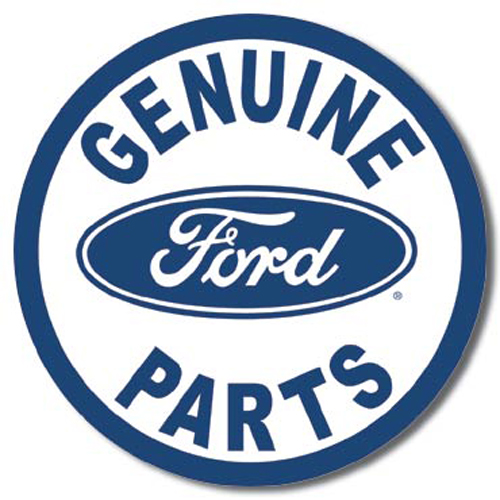 Ford - Genuine Parts - Round Metal Tin Sign 29.8cm ...